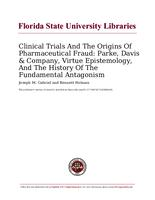Clinical Trials And The Origins Of Pharmaceutical Fraud