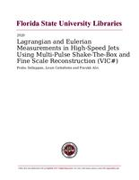 Lagrangian and Eulerian Measurements in High-Speed Jets Using Multi-Pulse Shake-The-Box and Fine Scale Reconstruction (VIC#)