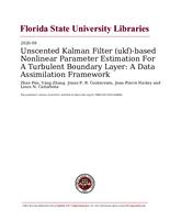 Unscented Kalman Filter (ukf)-based Nonlinear Parameter Estimation For A Turbulent Boundary Layer