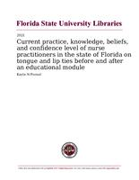 Current practice, knowledge, beliefs, and confidence level of nurse practitioners in the state of Florida on tongue and lip ties before and after an educational module