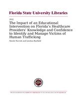 Impact of an Educational Intervention on Florida's Healthcare Providers' Knowledge and Confidence to Identify and Manage Victims of Human Trafficking