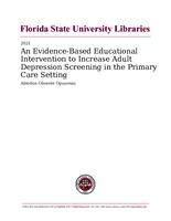 Evidence-Based Educational Intervention to Increase Adult Depression Screening in the Primary Care Setting