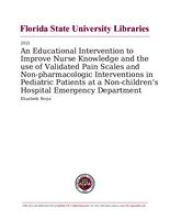 Educational Intervention to Improve Nurse Knowledge and the use of Validated Pain Scales and Non-pharmacologic Interventions in Pediatric Patients at a Non-children's Hospital Emergency Department