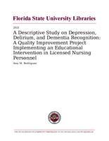 Descriptive Study on Depression, Delirium, and Dementia Recognition