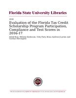Evaluation of the Florida Tax Credit Scholarship Program Participation, Compliance and Test Scores in 2016-17
