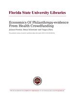 Economics Of Philanthropy-evidence From Health Crowdfunding