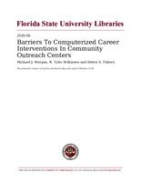 Barriers To Computerized Career Interventions In Community Outreach Centers