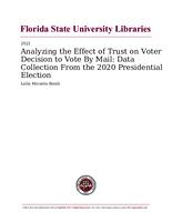 Analyzing the Effect of Trust on Voter Decision to Vote By Mail