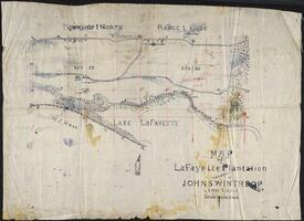 Map of LaFayette Plantation