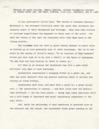 Remarks by LeRoy Collins, 1967 Annual Meeting, Florida Historical Society