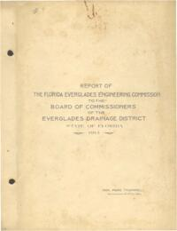 Report of the Florida Everglades Engineering Commission to the Board of Commissioners of the Everglades Drainage District, State of Florida