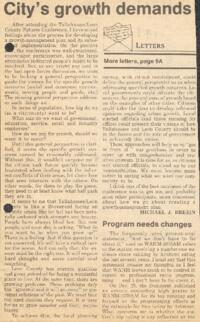 Newspaper articles on Conservation in Florida, 1980s