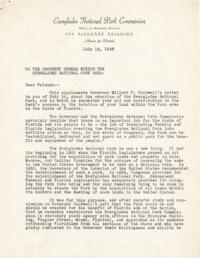Everglades National Park Commission Papers