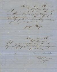 Letter asking permission for an enslaved person to live in a separate residence