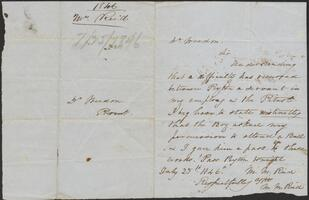 Letter for the allowance of Peyton to attend a ball