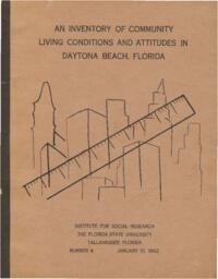 Inventory of Community Living Conditions and Attitudes in Daytona Beach, Florida