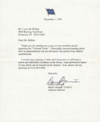 Correspondence and letters between Lewis Killian and various individuals.