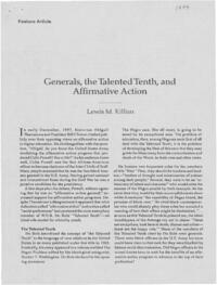 Generals, the Talented Tenth, and Affirmative Action