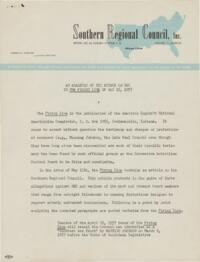 Analysis of the Attack on SRC In the Firing Line of May 15, 1957