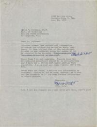 Correspondence between Lewis Killian and Virginia Wright, 1959