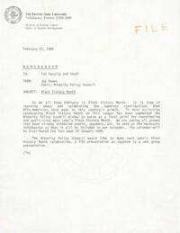 Black History Month Files, 1986-1988