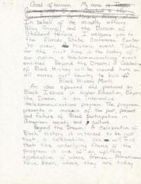 Black History Month Files, 1988-1989
