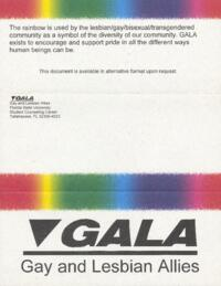 Gay and Lesbian Allies (GALA) brochure