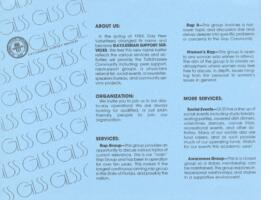 Gay/Lesbian Support Services brochure