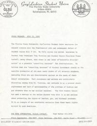 Press Release regarding Student Senate Bill #139