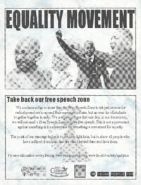 Equality Movement flyer