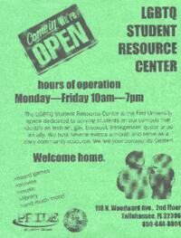 LGBTQ Student Resource Center flyer