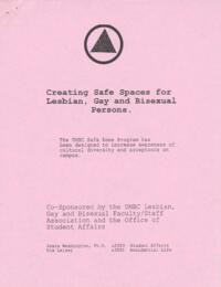 Creating Safe Spaces for Lesbian, Gay, and Bisexual Persons study