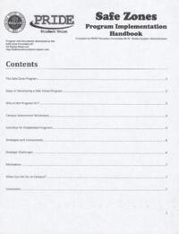Safe Zones Program Implementation Handbook