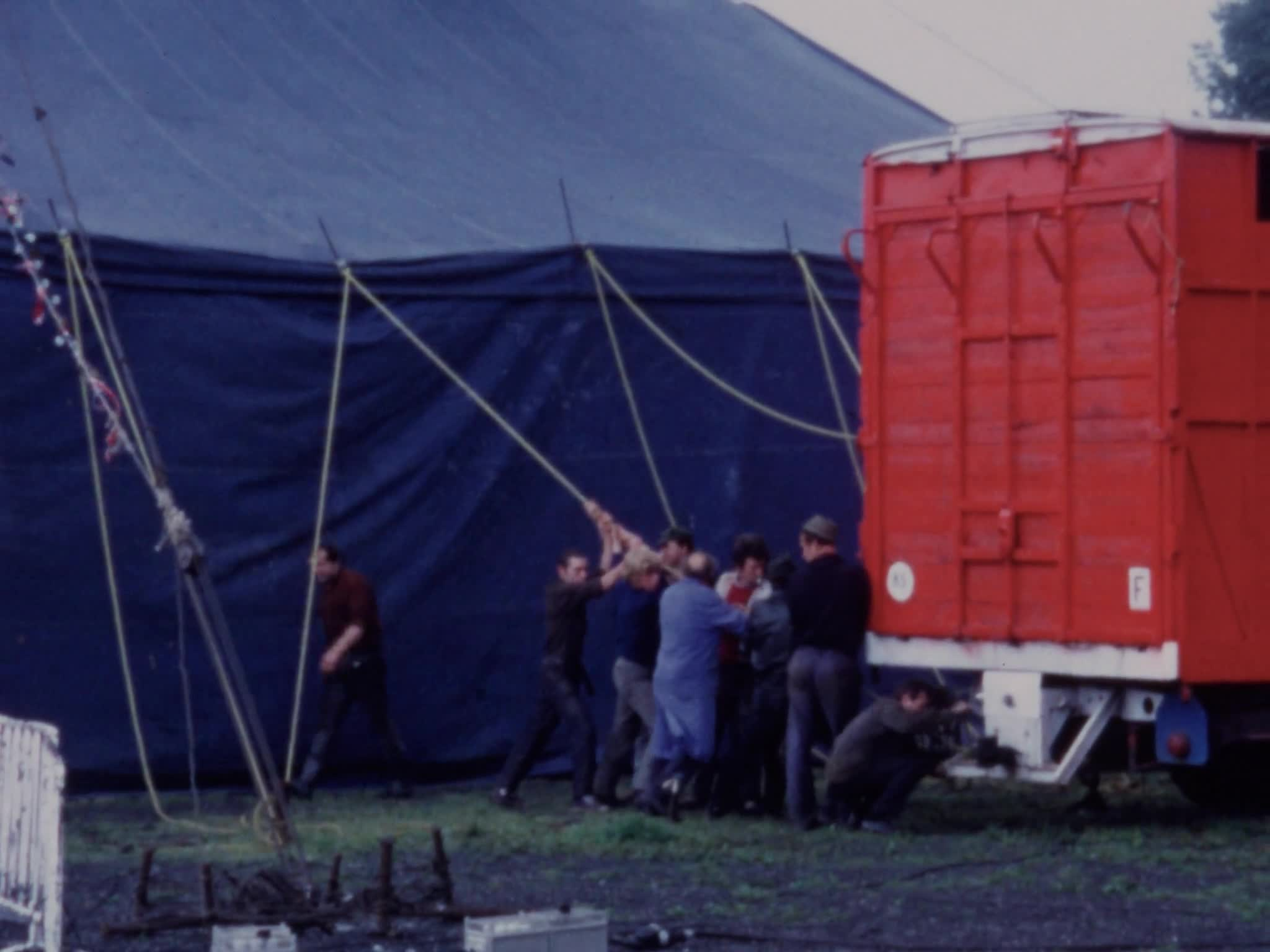 European Circus Travel Show Setup, Circus Ramcy, Jackie Althoff bears