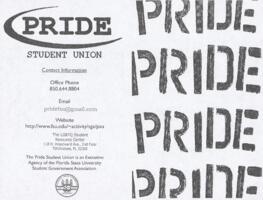 PRIDE Student Union flyer