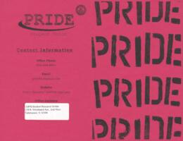 PRIDE Student Union (red) brochure
