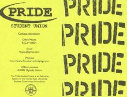 PRIDE Student Union (yellow) brochure