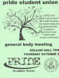 Pride Student Union General Body Meeting