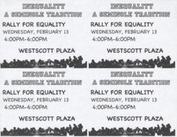 Rally for Equality flyers