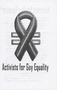 Activists for Gay Equality brochure