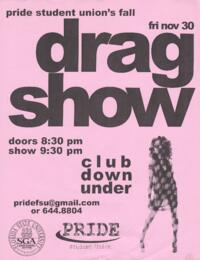 Fall Drag Show flyer