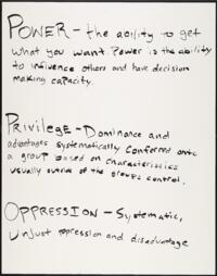 Power, Privilege, Oppression