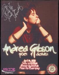 Andrea Gibson signed event poster