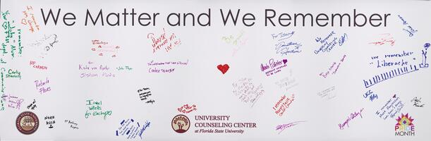 We Matter and We Remember banner
