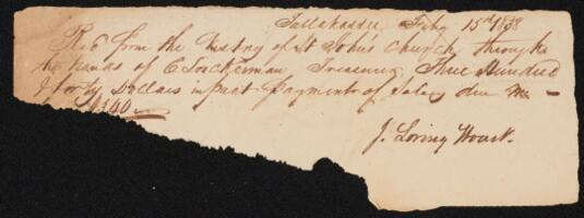 Financial Records, 1838-1849