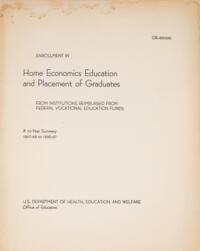 Enrollment in Home Economics Education and Placement of Graduates