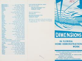Dimensions in Florida Home Demonstration Work