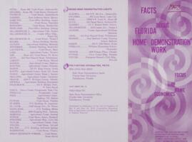 Facts About Florida Home Demonstration Work