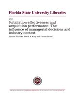 Retaliation effectiveness and acquisition performance