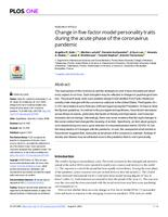 Change In Five-factor Model Personality Traits During The Acute Phase Of The Coronavirus Pandemic